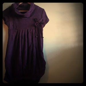Royal purple sweater dress